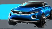 VW T-ROC Concept sketch front quarter
