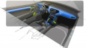 VW T-ROC Concept sketch interior