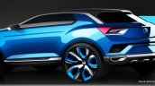 VW T-ROC Concept sketch rear quarter
