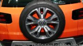VW Taigun spare wheel at Auto Expo 2014