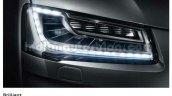 2014 Audi A8 Indian brochure matrix headlights