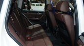 2015 BMW X3 rear seats - Geneva Live
