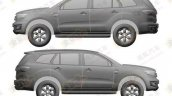 2016 Ford Everest patent leaks side