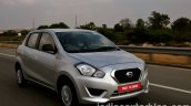 Datsun Go review front three quarter