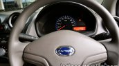 Datsun Go review instrument cluster and steering wheel
