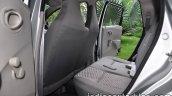 Datsun Go review rear seat
