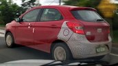 Ford Ka spied in Brazil rear quarter