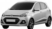 Hyundai Grand i10 front three quarters patent in China