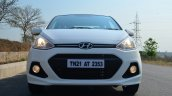 Hyundai Xcent Review front lights