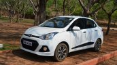 Hyundai Xcent Review front quarter shot