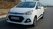 Hyundai Xcent Review front quarter view