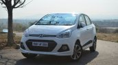Hyundai Xcent Review front quarter white