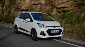 Hyundai Xcent Review front quarter