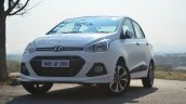Hyundai Xcent Review front three quarter shot