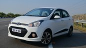 Hyundai Xcent Review front three quarter