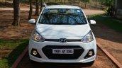 Hyundai Xcent Review frontal shot