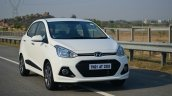 Hyundai Xcent Review moving shot