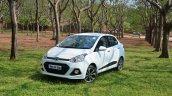 Hyundai Xcent Review profile shot front quarter
