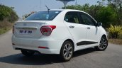 Hyundai Xcent Review rear profile shot