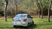 Hyundai Xcent Review rear quarter image