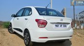 Hyundai Xcent Review rear quarter view