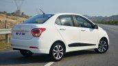 Hyundai Xcent Review rear quarter