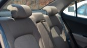 Hyundai Xcent Review rear seat back fabric