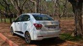 Hyundai Xcent Review rear shot three quarter