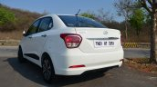 Hyundai Xcent Review rear three quarter