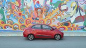 Hyundai Xcent Review red side
