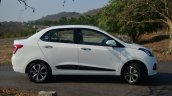 Hyundai Xcent Review side angle white