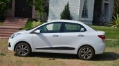 Hyundai Xcent Review white side profile