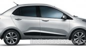 Hyundai Xcent side official image