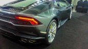 India preview Lamborghini Huracan taillights
