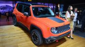 Jeep Renegade front three quarters at Geneva Motor Show