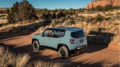Jeep Renegade leaked image rear three quarters