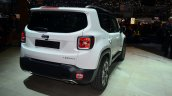 Jeep Renegade rear three quarter white car at Geneva Motor Show 2014