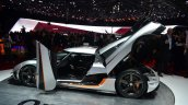 Koenigsegg One-1 doors ajar at Geneva Motor Show