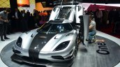 Koenigsegg One-1 front three quarters at Geneva Motor Show