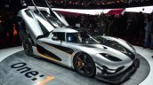 Koenigsegg One-1 front three quarters left at Geneva Motor Show