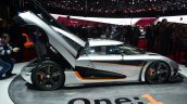 Koenigsegg One-1 side at Geneva Motor Show