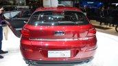 Qoros 3 hatchback rear with door open - Geneva Live