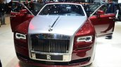 Rolls Royce Ghost Series II front three quarter with doors open - Geneva Live