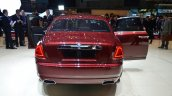 Rolls Royce Ghost Series II rear three quarter with front and rear door open - Geneva Live