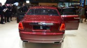 Rolls Royce Ghost Series II rear three quarter with front and rear doors open - Geneva Live