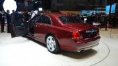 Rolls Royce Ghost Series II rear three quarter with front door open - Geneva Live
