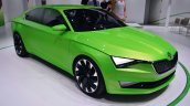 Skoda Vision C concept front three quarter right - Geneva Live