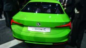 Skoda Vision C concept rear three quarter - Geneva Live