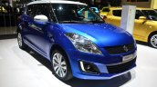 Suzuki Swift Swiss Edition front three quarters at Geneva Motor Show