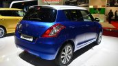 Suzuki Swift Swiss Edition rear three quarters at Geneva Motor Show